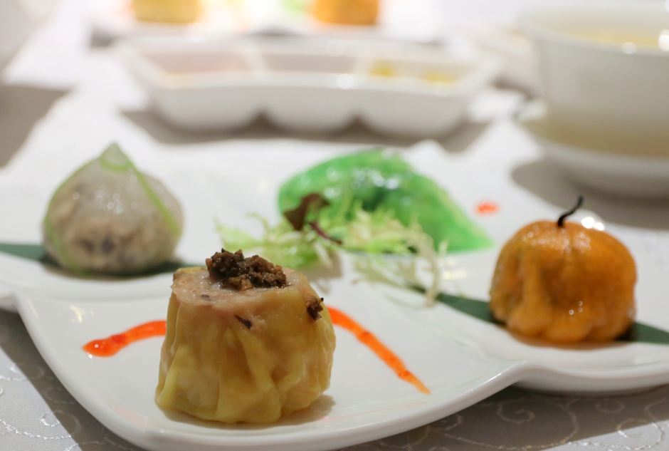 Delectable dim sum items