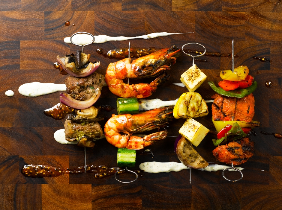 opus-skewers-angus-beef-king-prawn-haloumi-tandoori-chicken