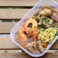Food Review: Prawn & Mee At 216 Bedok Food Centre | Modern Prawn Noodles Hawker Stall In Bedok North